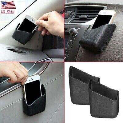 US 2 pcs Universal Black Car Accessories Phone Organizer Storage Bag Box Holder