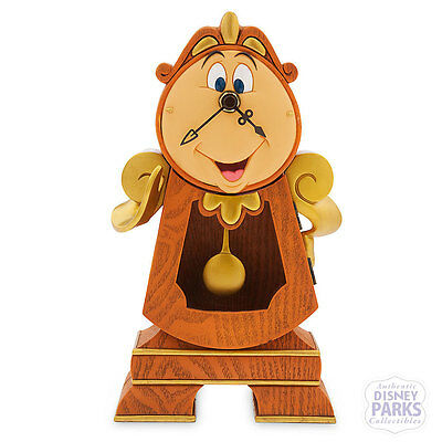 Authentic Disney Parks Cogsworth Clock - Beauty and the Beast Figure NIB