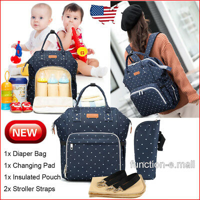 Large Capacity Mummy Nursing Bag Baby Nappy Diaper Bag Maternity Travel Backpack