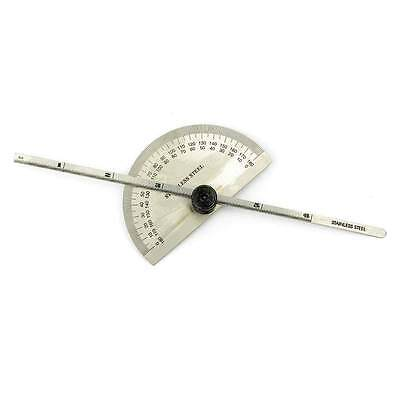 Stainless Steel 0-180 Deg Round Head Protractor Cum Depth Gauge - Apm-1277