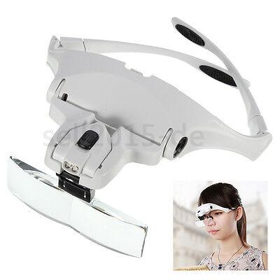 Neu Brillenlupe Lupenbrille Kopflupe Stirnlupe1.0X1.5X2.0X2.5X3.5X Vergrößerung