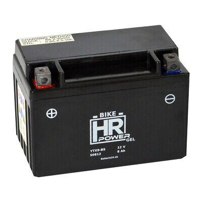 HR Bike 12V 8Ah GEL Motoradbatterie YTX9-BS 50812 GTX9-BS FTX9-BS CTX9-BS gebraucht kaufen  Böhnhusen