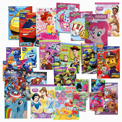 LOT of 10 Disney Assorted Coloring & Activity Books for Children Kids Boys Girls](Color Books For Girls)
