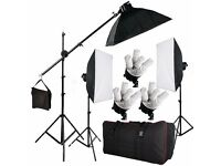 Continuous Soft Box Lighting Kit Photo Video