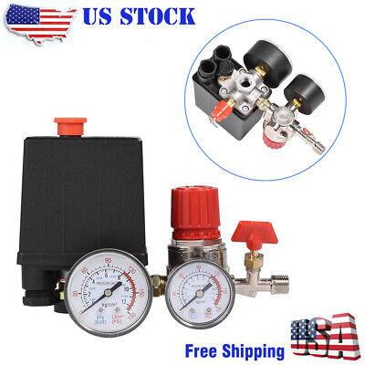 Hot Air Compressor Pressure Control Switch Valve Manifold Regulator With Gauges