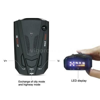 360 Degree Car GPS Radar Detector 16 Band Voice Alert V7 Anti Laser Warning B2O6