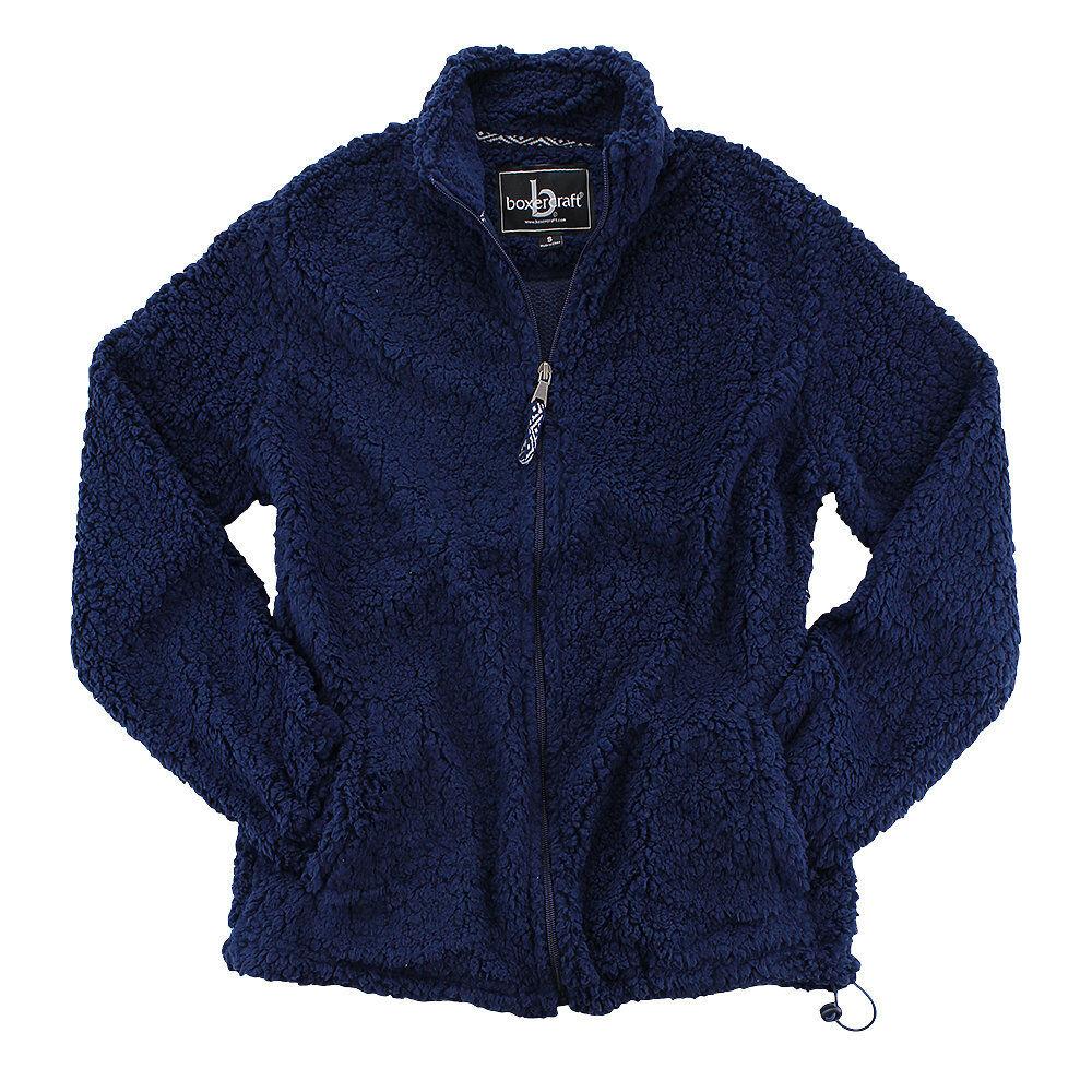 Sherpa fleece jacket metal frame