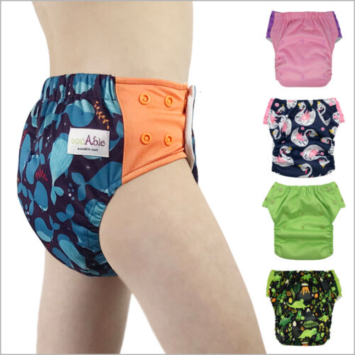ECOABLE 3-in-1 Hybrid Cloth Swim Diaper Potty Training Pants, Baby to 10 Years