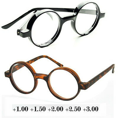 Black Tortoise Round Oval Reading Glasses Readers John Lenon Harry Potter - Lenon Glasses