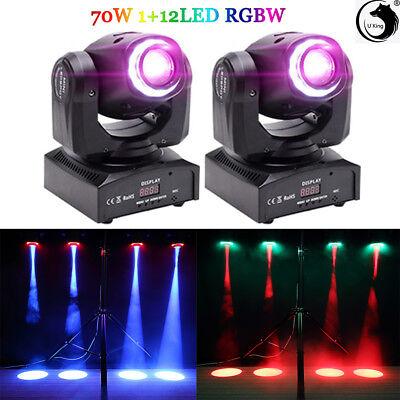 - U`King 2PCS 70W Stage Lighting LED RGB DMX Moving Head DJ Disco Party Show Light