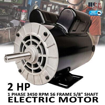 2 Hp Spl Compressor Duty Electric Motor 3450 Rpm 56 Frame 58 Shaft 120240v Us