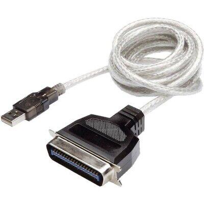 R-Sheng Câble Adaptateur USB vers imprimante parallèle IEEE1284  Bleu