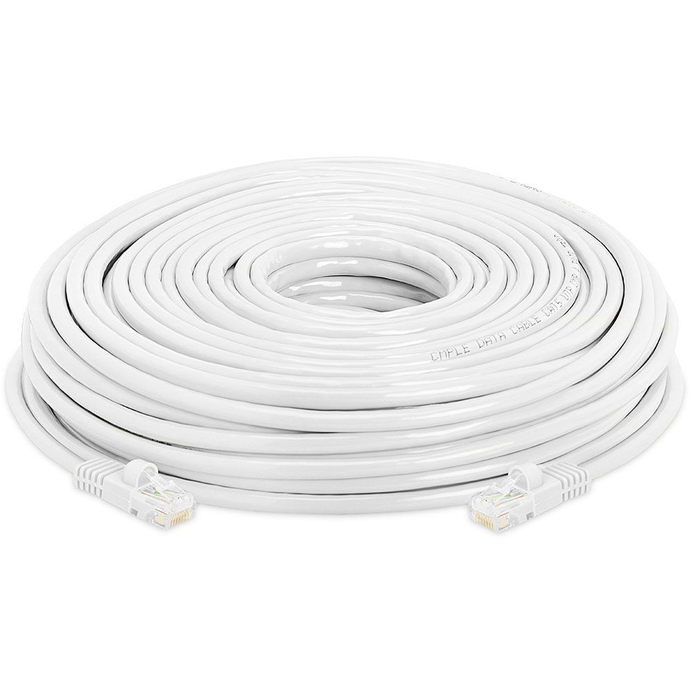 100 FT White RJ45 CAT6 Ethernet LAN Network Cable Patch Cord For PC Laptop PS4 Computers/Tablets & Networking