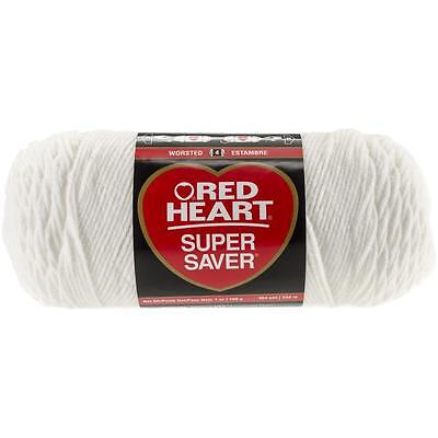 "Red Heart Super Saver Yarn - ""White"" - 7 OZ Skeins - E300 - 100% Acrylic"