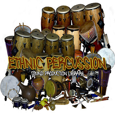 - ETHNIC PERCUSSION INSTRUMENTS and SOUNDS - Large Samples Library 1.4 GB on DVD