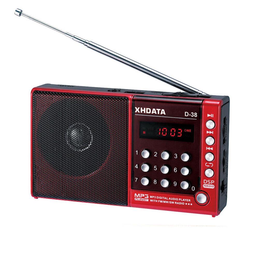 XHDATA D-38 Portable Radio FM AM Shortwave Full Band DSP Rad