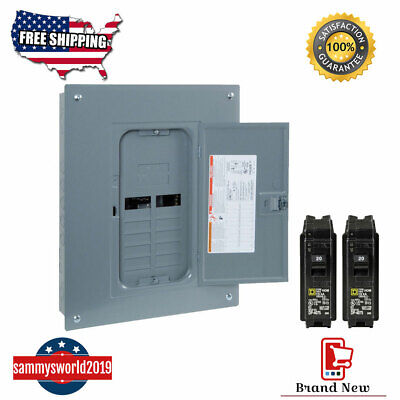 New Square-d 125-amp 12-space 24-circuit Indoor Home Main-breaker Load Panel Box