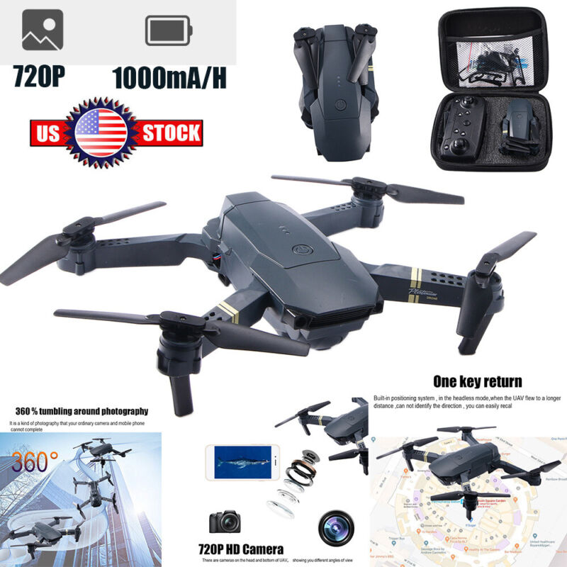 FPV Wifi Drone Quadcopter HD Camera Aircraft Foldable Selfie Toy Trajectory Flip