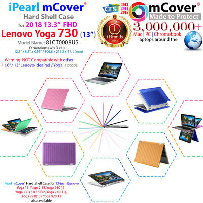 "NEW mCover® Hard Case for NEW 13.3"" Lenovo Yoga 730 (13) 2-in-1 Ultrabook Laptop for sale  Shipping to India"