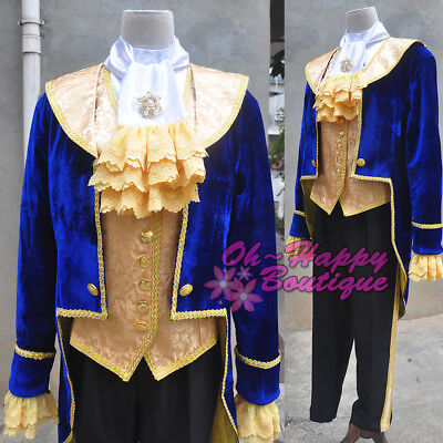 Movie Beauty and the Beast Prince Tuxedo Cosplay Costume For Adult Men ](Beauty And The Beast Costumes For Adults)