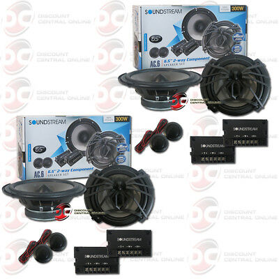 Coaxial Speakers System - 4 x SOUNDSTREAM AC.6 6.5-INCH 6.5