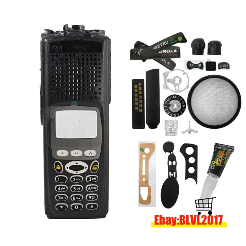 Black Replacement of Front housing case for Motorola XTS5000 Model 3 Radio