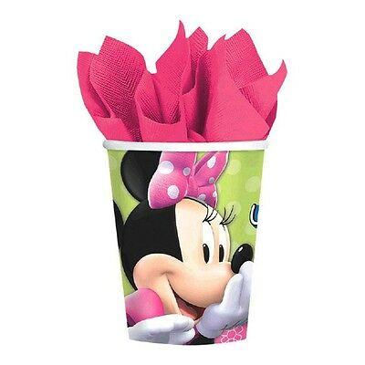 Minnie Bowtique Party (8 Disney Minnie Mouse Bowtique Pink Birthday Party 9oz Paper)