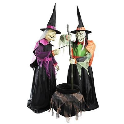 DRON Witches halloween Yard MOVING STICK LIGHT UP TALKING (Talking Stick Halloween)