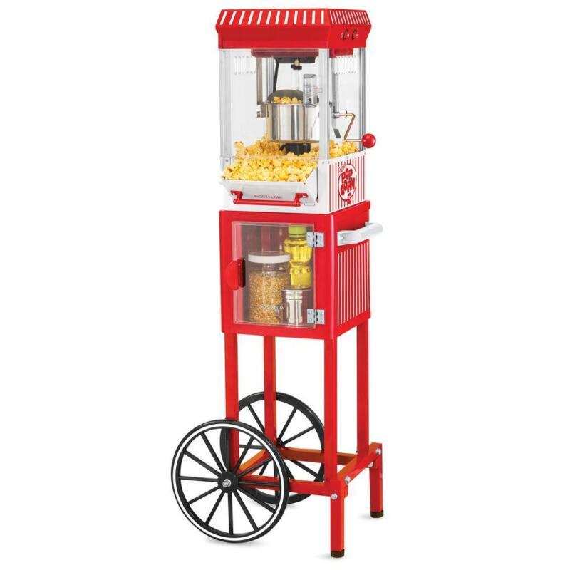 Nostalgia Electrics Vintage Popcorn Cart Machine Popper Make