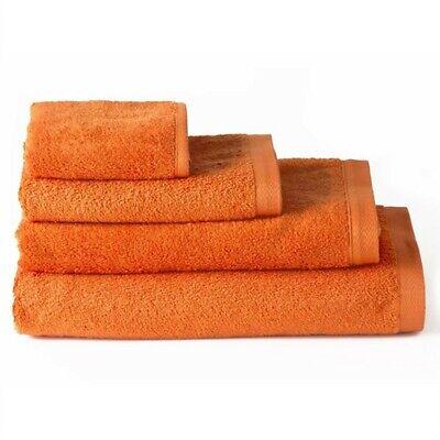 Toalla de baño lavabo algodón naranja