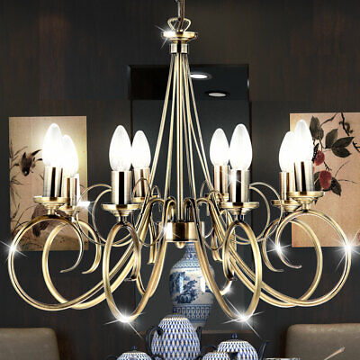 Lámpara De Techo LED Araña Cristal Salón Colgante Reflector Ahorro Energía