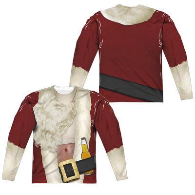 BAD SANTA COSTUME Adult Mens Long Sleeve Tee Shirt SM-3XL Halloween  (Bad Santa Halloween Costume)