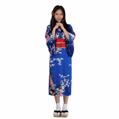 Mädchen Kinder Kostüm Geisha Kimono Japanerin Samurai Yukata Kleid Prinzessin