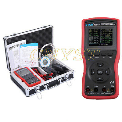 Intelligent Double Clamp Phase Volt-ampere Meter Ac Voltage Current Tester