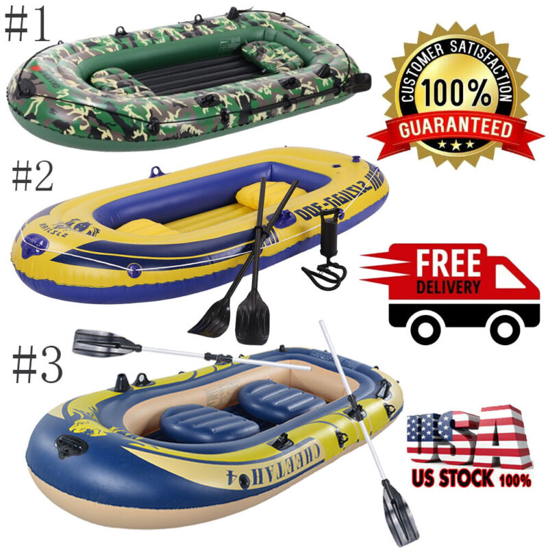 10' 4 Person Inflatable -Dinghy Boat Fishing Tender Rafting