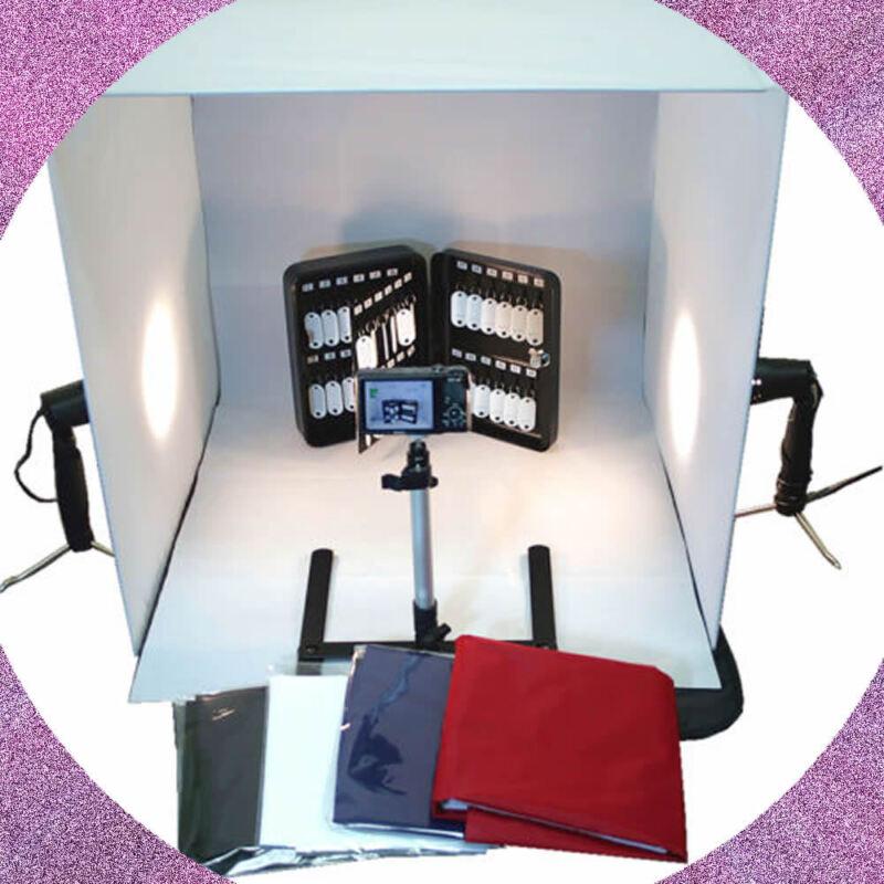 "WOW 24"" Cube Tent Photography Photo Studio Light Box + Lighting Stand Kit 60cm"