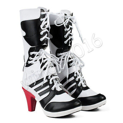 Batman DC Comics Suicide Squad Harley Quinn Cosplay Boots High Quality Shoes NEW - Harley Quinn Booty