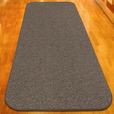 8 ft x 48 in SKID-RESISTANT Carpet Runner PEBBLE GRAY hall a