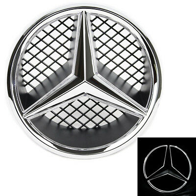 Illuminated LED Light Snap-in Front Grille Star Emblem Badge for Mercedes Benz