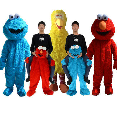 Lot Sesame Street Elmo Cookie Monster Mascot Costume Adult Outfits Cosplay Dress - Cookie Monster Outfits