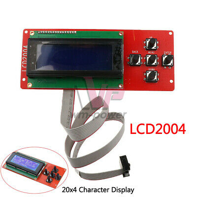 Lcd2004 Screen Display With Controller Board Adaptor For Ramps1.4 3d Printer