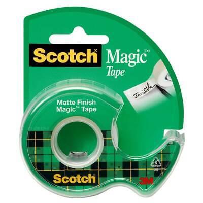 Scotch Magic Tape 122 With Dispenser Matte Transparent 34in X 650 In Refillable