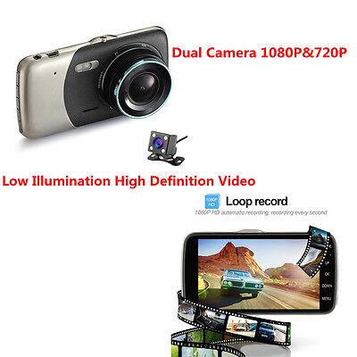 WDR/Wide HD Dual Lens Car DVR Dash Cam Video Recorder AV IN/Micro USB/TF Card