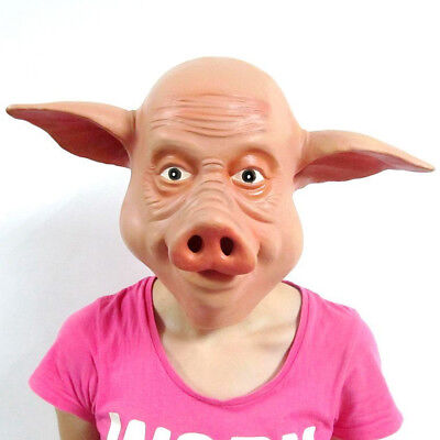 Funny Full Head Pig Mask for Masquerade Party Halloween Cosplay Mask Animal](Funny Animal Masks)