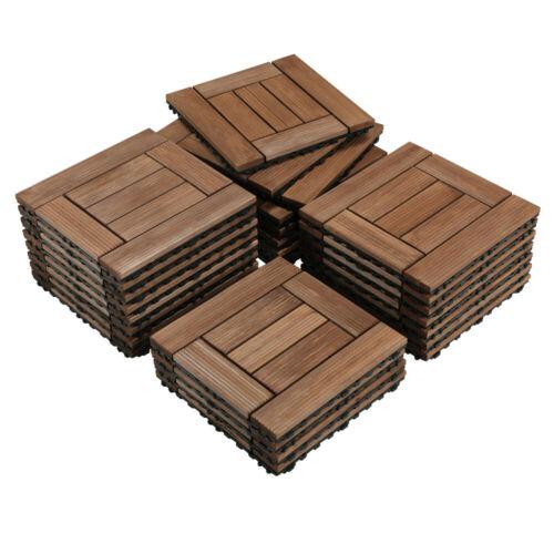 12x12'' Deck Patio Tiles Interlocking Wood Flooring Pave