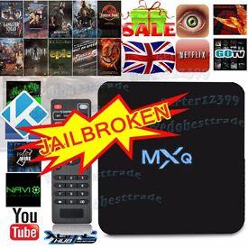 XMAS GIFT GENUINE MXQ Quad Core Kodi Android 6.0 TV Box Fully Loaded XBMC Free Sports Movies