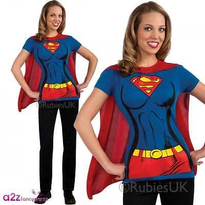 Adult Supergirl Damen T-Shirt September Lizenzierte Kostüm - Supergirl Adult Kostüm