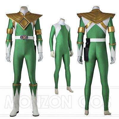 Green Dragon Ranger Cosplay Costume Handmade Halloween Full Size Masquerade - Green Ranger Costume Halloween
