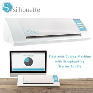 NEW New Silhouette Cameo Electronic Cutting Machine with Scrapbooking Starter Bundle Condtion: New, Starter Bundle