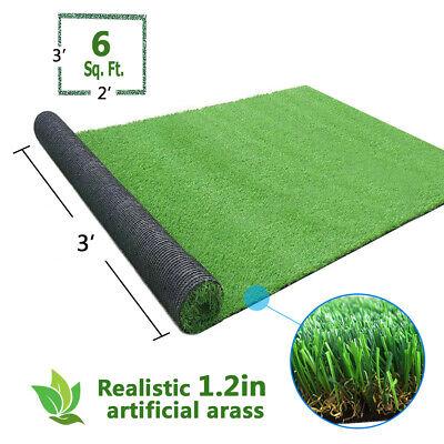 3.3x2.3FT Artificial Grass Carpet Fake Synthetic Landscape Lawn Mat Turf Garden